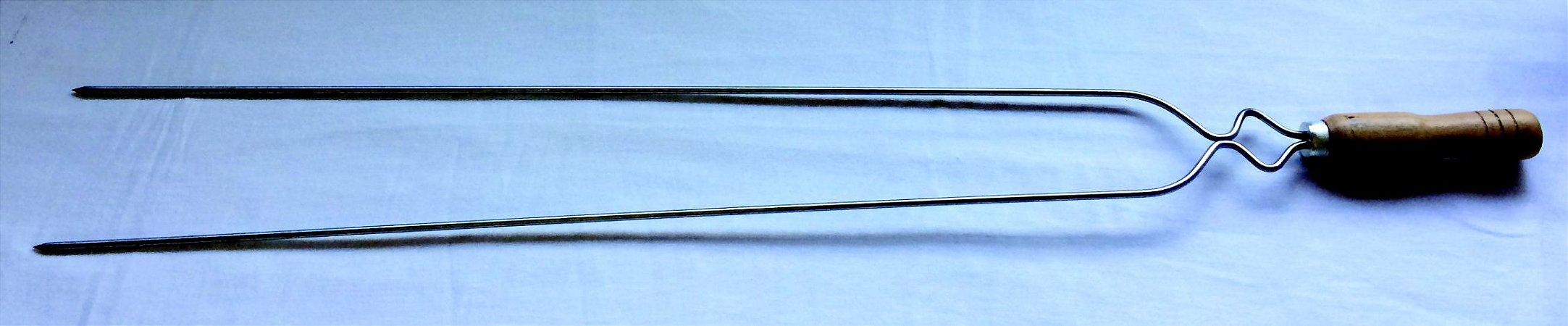 Espeto duplo 85 cm Inox