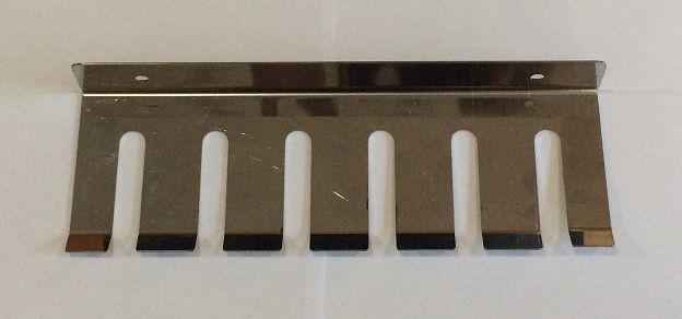 Porta espeto Inox de parede p/ 06 espetos