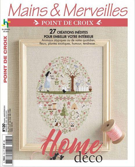 MAINS & MERVEILLES POINT DE CROIX N°130 - HOME DÉCO