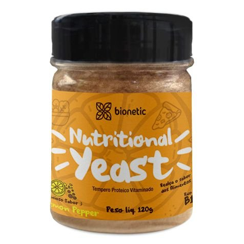Nutritional Yeast (Levedura Nutricional) Lemon Pepper 120 g – Bionetic