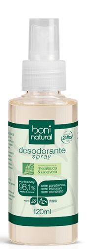 Desodorante Spray Melaleuca, Toranja e Aloe Vera – Boni Natural
