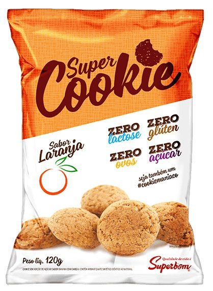 Super Cookie Zero Laranja 120 g – Superbom