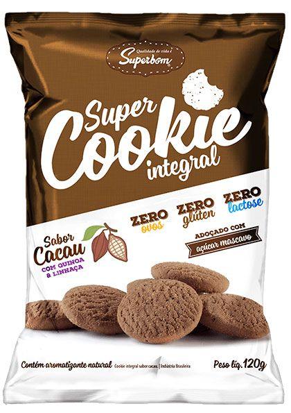 Super Cookie Zero Cacau 120 g – Superbom