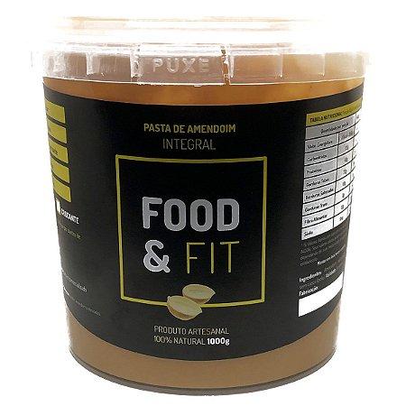 Pasta de Amendoim Integral Crocante Artesanal 1 Kg - Food & Fit