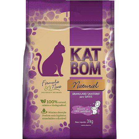 Katbom - Granulado Sanitário Natural BIodegradável para Gatos - 3KG