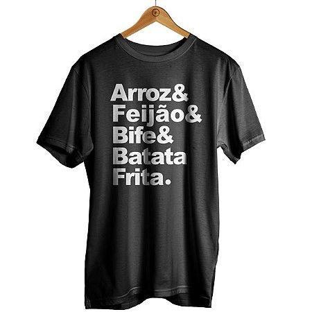 Camiseta Arroz & Feijão & Bife & Batata Frita