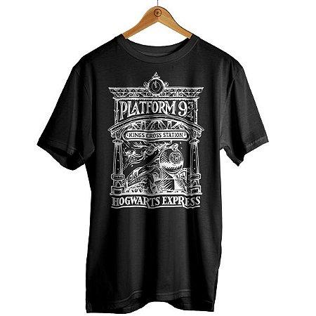 Camiseta Harry Potter - Hogwarts Trem Plataforma 9 ¾