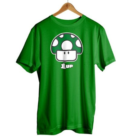 Camiseta Mario - Cogumelo 1 Up Vida