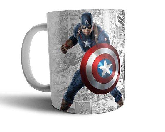 Caneca Capitão América - Marvel