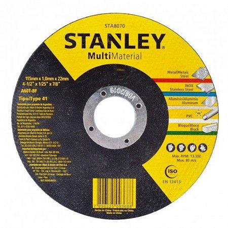 Disco de Corte Multi-material 4.1/2 X 1.0 X 7/8 STA8070 STANLEY
