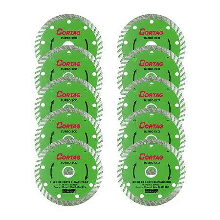 Disco de Corte Diamantado Turbo Eco KIT10