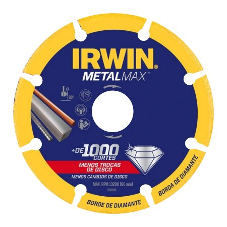 Disco de Corte Diamantado 180mm Metalmax Irwin