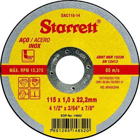 Disco de Corte DAC 115-14 Starrett