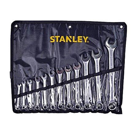 Jogo de Chaves Combinadas Anguladas 12 Peças 6-22mm STMT80932-840 Stanley