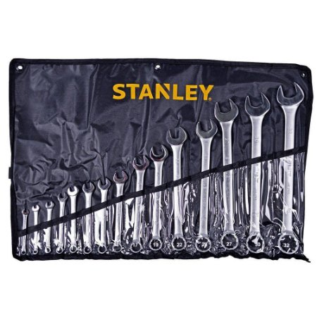 Jogo de Chaves Combinadas Anguladas 15 Peças 6-32mm STMT80934-840 Stanley