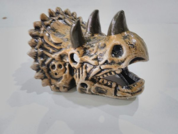 Enfeite de aquários Cabeça de triceratops
