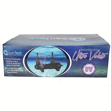 Estrilizador UV para controle de algas e micro organismos em lagos ornamentais e aquários - Ocean Tech PU-55W 127v