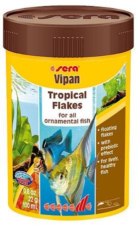 Alimento base em flocos para peixes ornamentais de água doce Sera Vipan de 60g
