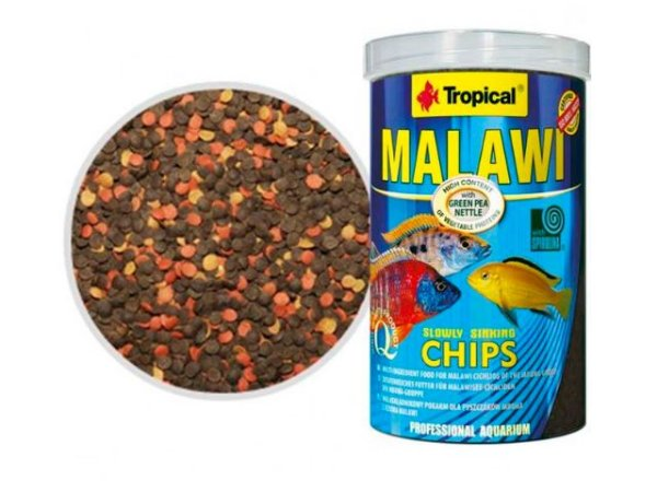 Ração Tropical Malawi Chips 130g com spirulina