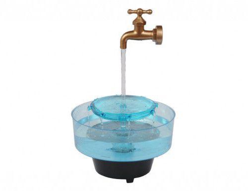 Fonte plástica decorativa tipo torneira Litwin 127V (pode ser usada como aquário)