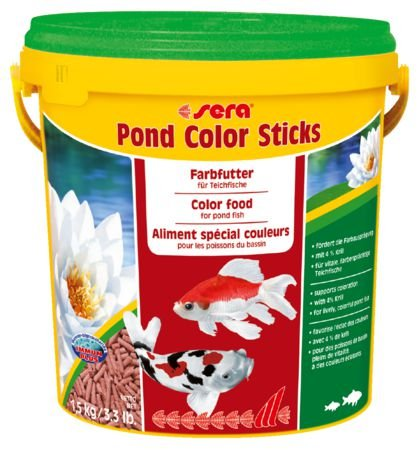 Ração Sera Pond Color Sticks 1,5kg