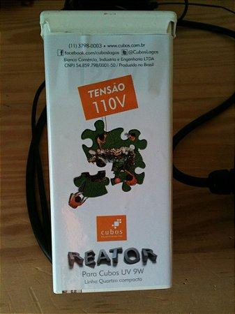 Conjunto elétrico c/ reator para UV de 9W Cubos 110V