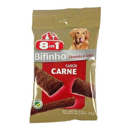 Petisco Super Premium para cães Bifinho Sabor Carne 55g - 8in1