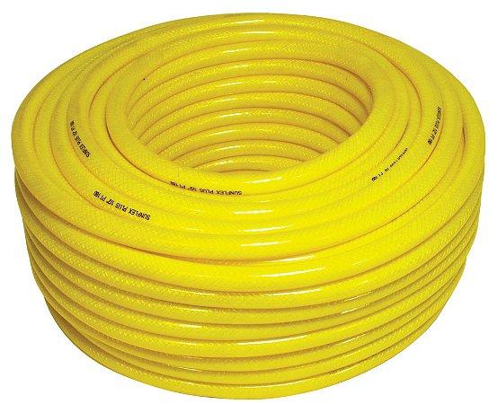 """Mangueira de PVC trançado com nylon para jardim - Amarela - 1/2"""" - Sunflex - Venda por metro"""