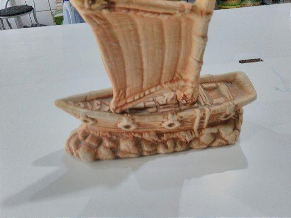 Enfeite para aquários - Barco Pirata envelhecido tamanho médio