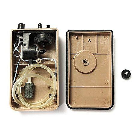 Compressor de Ar portátil a pilha (2 Pilhas Grande - D) - Boyu D-200