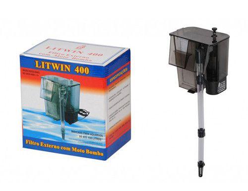 Filtro externo para aquários tipo Hang-On Litwin 400 Luxo 110V