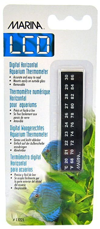 Termometro digital adesivo externo para aquários Hagen Dolphin de 20º a 30º