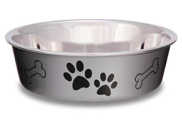 Comedouro e bebedouro em Inox Bella Bowl Metallic Silver - 14cm - 2329 C8