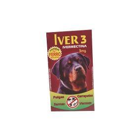 Ivermectina Mect Plus 3mg - Cães de 1 a 15kg Com 4 Comprimidos