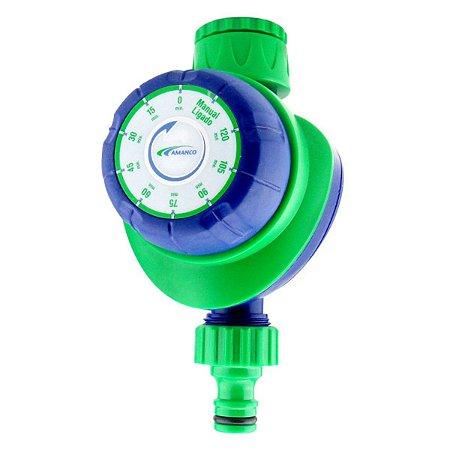 Temporizador mecânico para irrigação com 1 saída - 2 horas - Amanco