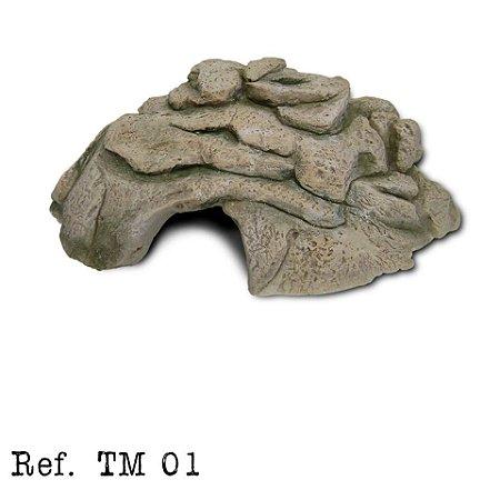 Toca media em resina para aquários e terrarios TM01 23x10x28cm