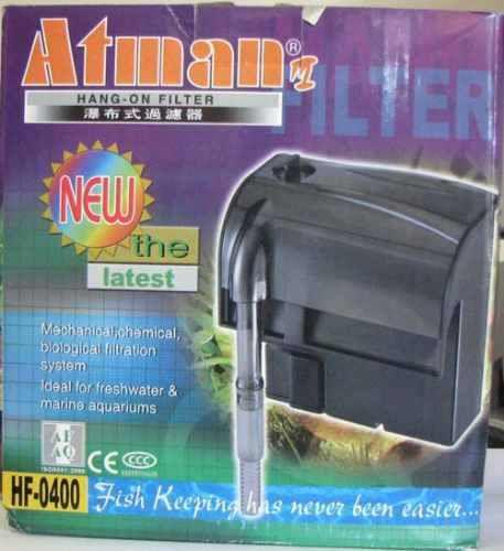 Filtro externo (Hang-on) para aquários Atman HF-0400 450l/h - 127V