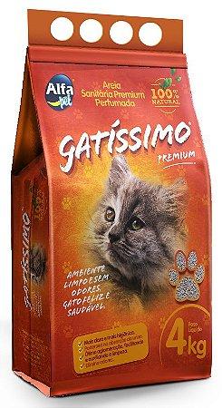 Granulado Premium (Areia) higiênica perfumada para gatos e roedores - Gatissimo 4kg - Alfa pet