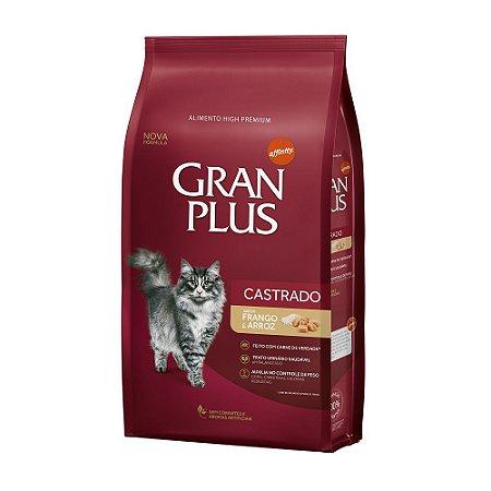 Ração para gatos Castrados Gran Plus Frango - pacote de 1kg