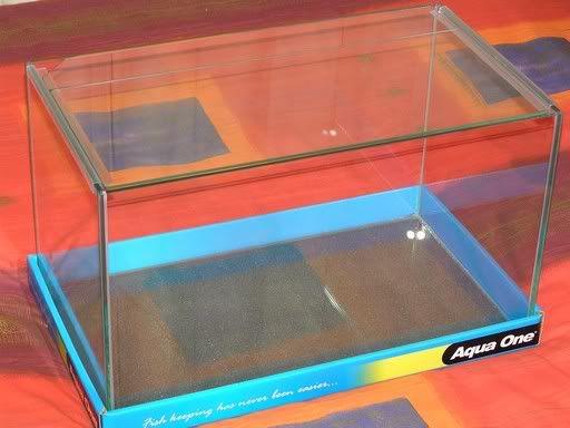 Aquário de vidro curvo com tampa Aqua One Mirage 31 (31x18x19CM)