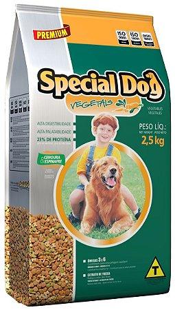 Alimento Premium para cães Adultos Special Dog sabor vegetais 15kg