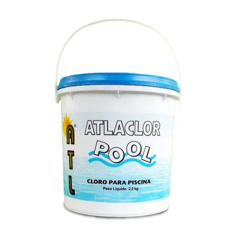 Cloro desinfetante em pó para Piscina ATLACOR POOL 2,5kg