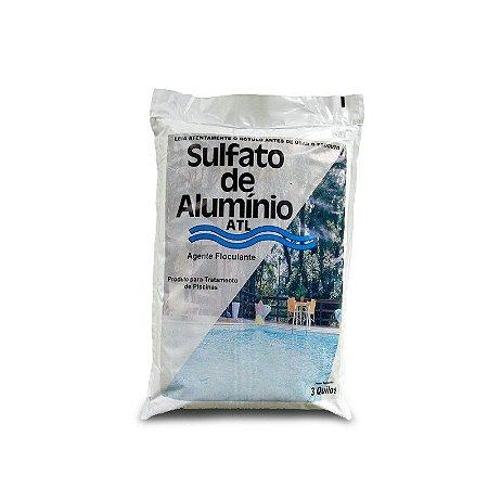 Agente floculante para piscinas - Sulfato de alumínio em pó ATL 3kg