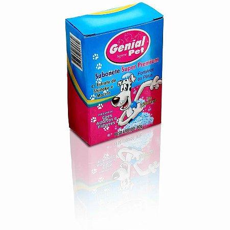 Sabonete Super premium para cães Genial Pet com Extrato de Shiitake e Macela - 80g