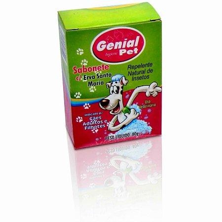 Sabonete para cães e gatos Genial Pet com Erva de Santa maria - 80g