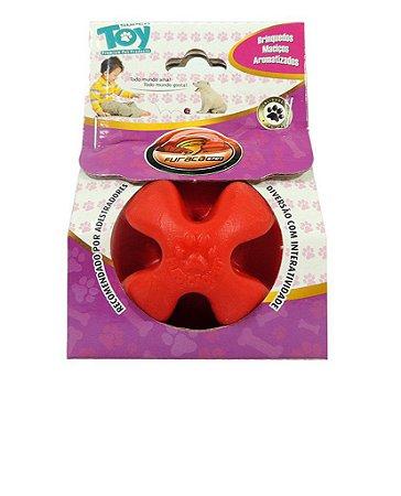 Bola de borracha maciça Super Ball 60mm - Super Toy - Furacão Pet