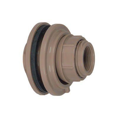 """Adaptador com Flange e Anel de PVC marrom 50mm x 1.1/2"""" - Amanco"""
