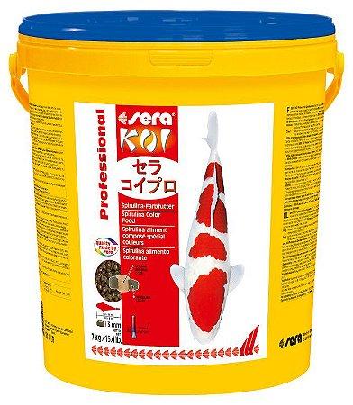 Ração Sera Koi Professional Alimento Colorante Spirulina 7kg