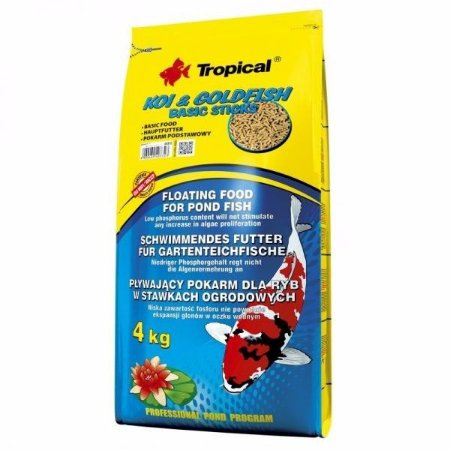 Alimento básico para carpas Tropical Koi&Goldfish basic Sticks 4,0kg