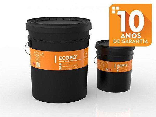 Impermeabilizante Liquido para lagos e tanques de alvenaria Cubos Ecoply de 18lt